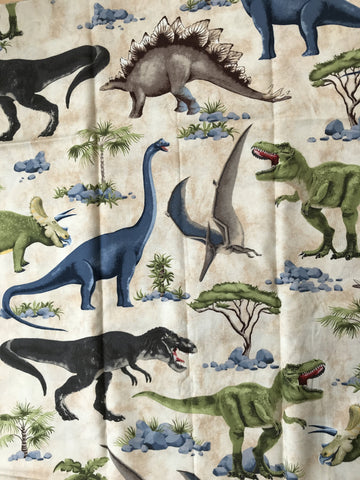 REMNANT - Dinosaurs on Cream - ( 75cm)