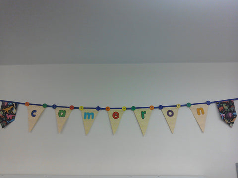 Personalised bunting- Birthday, Nursery, new baby, wedding