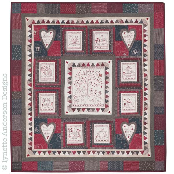 Lynette Anderson  My Family Embroidered Quilt Pattern