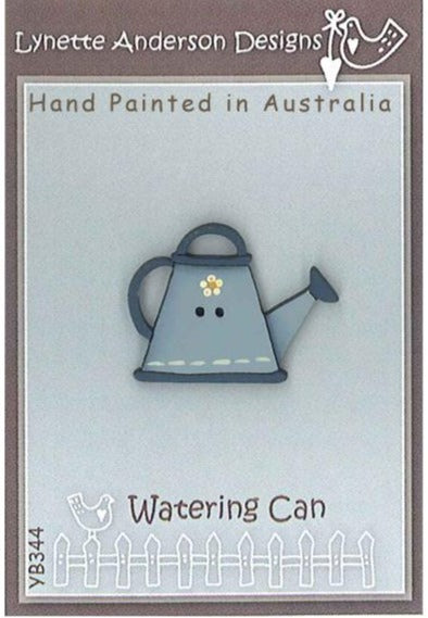 Lynette Anderson  Blue Watering Can Button pack