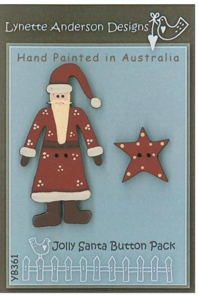 Lynette Anderson  Jolly Santa Button Pack