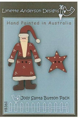 Lynette Anderson's Jolly Santa Button Pack