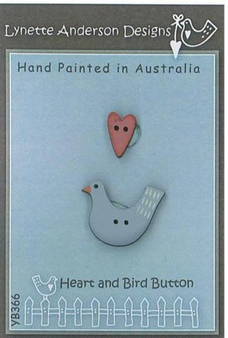 Lynette Anderson's Heart and Bird Button Pack