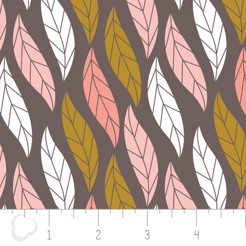 MAGNOLIA - Leaves in dark taupe