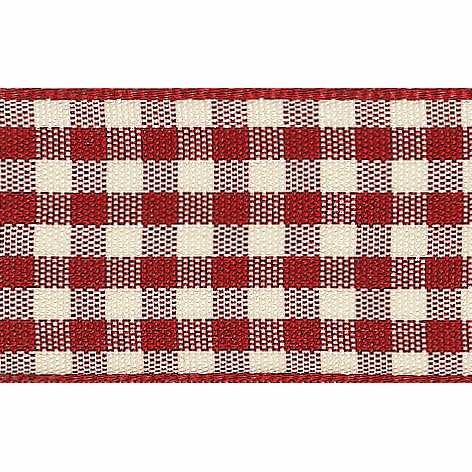 Berisfords Ribbon -  15mm  Natural Gingham