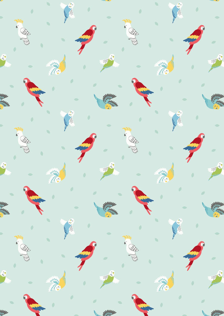 Lewis and Irene Small things - Pets - Birds on light peppermint