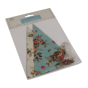 Groves Trim Collection - Bunting Kit - Blue/Cream Linen
