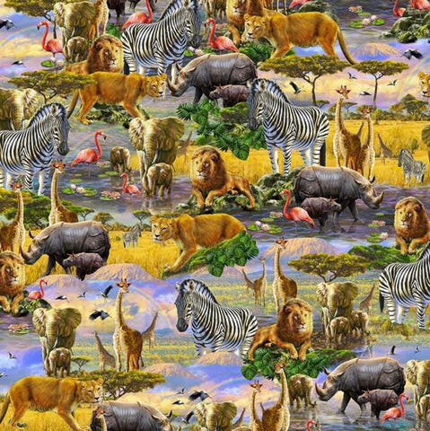 Savanna - Allover animals (90cm repeat)