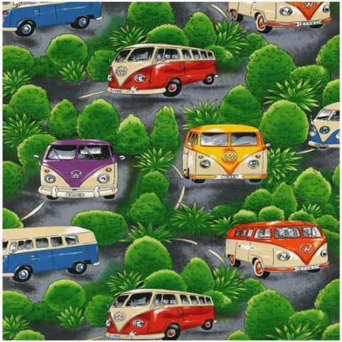 VW Campervan On Tour (Green)