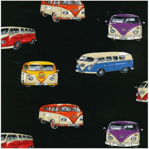 VW Campervan On Tour (Black)