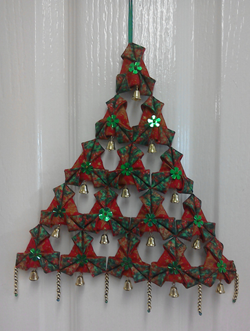 Fabric Origami Christmas Tree Pattern