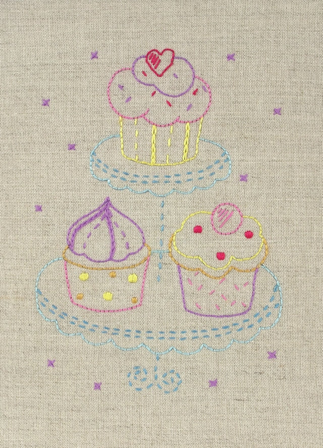Anchor Embroidery Kit - Cupcake