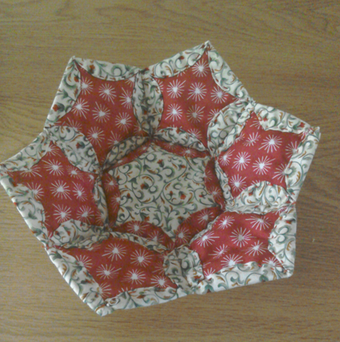 Folded Pentexagon Basket Pattern