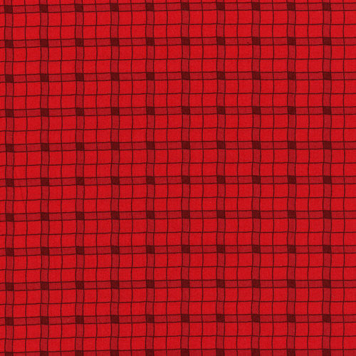 Logger Plaid - firetruck red