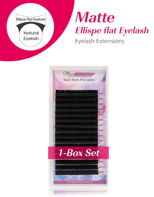 .15 / .20mm Super Matte Flat Ellipse Eyelash Leasanan Seallaidhean Pearsanta 1PC