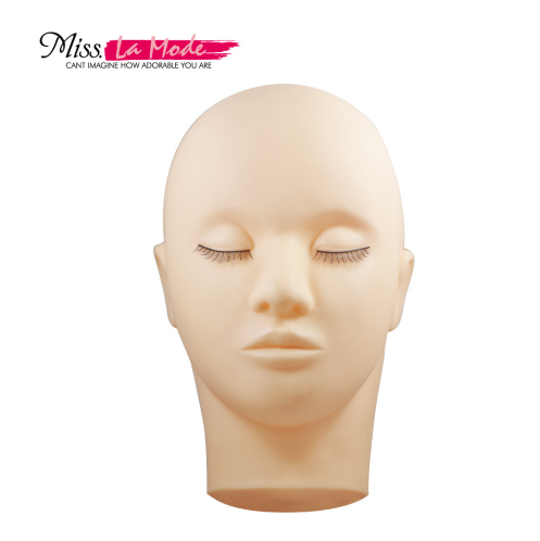 Fampiofanana Mannequin Make Up Closed Eyes Flat Head for Extension Wimelash