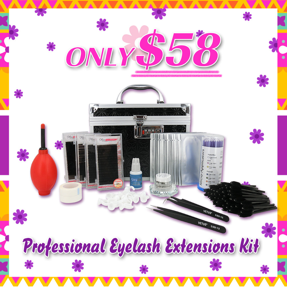Eyelash Extension Kit For Beginner Lash Artist - Misslamode
