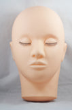 Training Mannequin Make Up Closed Eyes Flat Head for Eyelash Extension - Misslamode