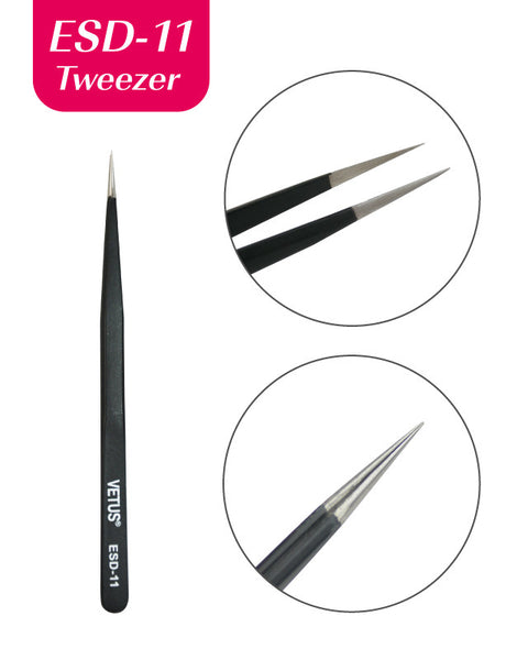 Misslamode ESD11 Anti static tweezers for eyelash extension tools and lash applicator - Misslamode