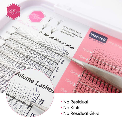 0.10mm Premade Fans Volume Lash Extensions 16 Rows