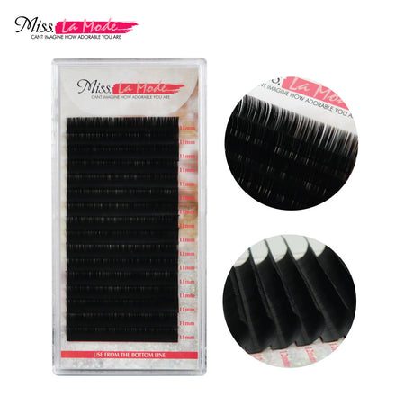 .15mm Two-Tips Y-Split Matte Flat Eyelash Extensions C/D Curl