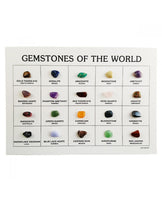 Identification Card - 20 Assorted World Gemstones