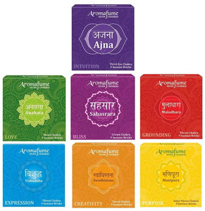 7 Chakra Incense Bricks - Set of 7
