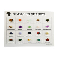 Identification Card - 20 Assorted African Gemstones