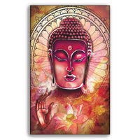 Red Buddha - Wall Art