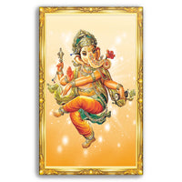 Yellow Ganesha - Wall Art