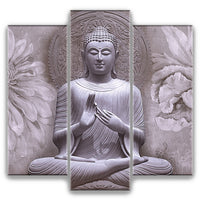 Grey Buddha - 3 Piece Wall Art Set