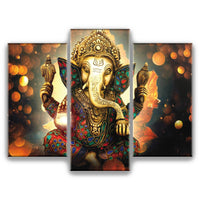 Ganesha - 3 Piece Wall Art Set