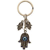 Evil Eye / Hamsa Hand Key Ring - Small