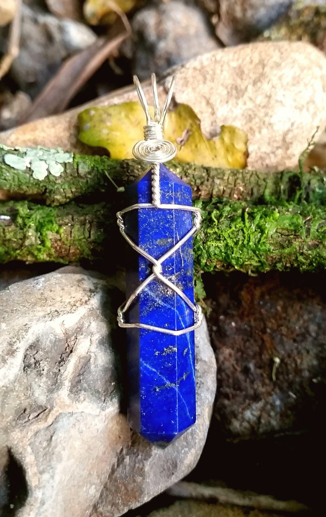 Lapis Lazuli Silver Plated Wire Wrap from South Africa