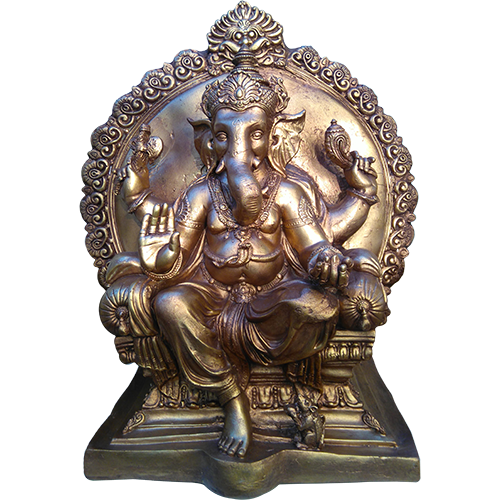 Ganesha 55cm Ganesha on Throne - Soul Array - South Africa
