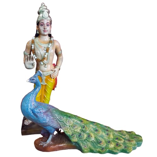 *** COST NEEDED *** Muruga & Peacock 110cm x 56cm - Soul Array - South Africa