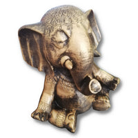 Zen Elephant Statue - Cement - Suitable for Outdoors