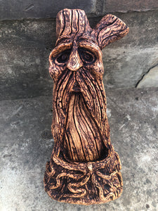 Tree spirit / Green Man Backflow Incense Burner - NEW