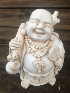 Lucky Buddha with Money Bag 10cm