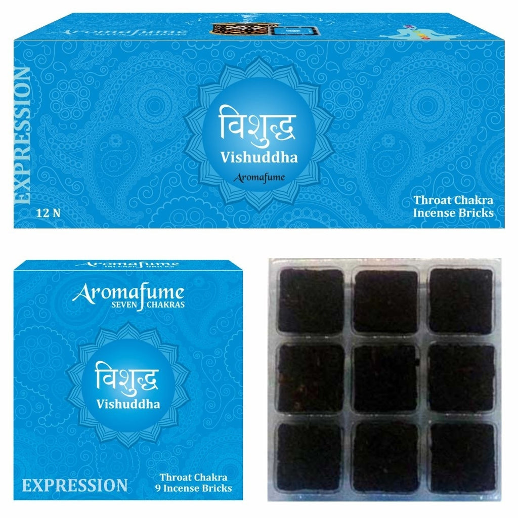 Vishuddha - Throat Chakra - Exotic Incense Bricks