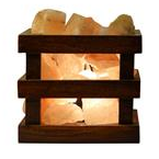 Himalayan Salt Lamp - Wood Box