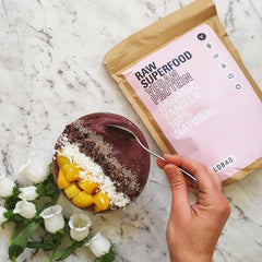 Wildbag superfood protein blends mango banana acai bowl