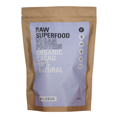 Wildbag Raw Superfood Vegan Protein - Organic Cacao