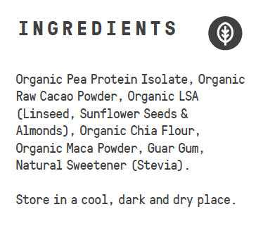Raw Superfood Vegan Protein - Organic Cacao