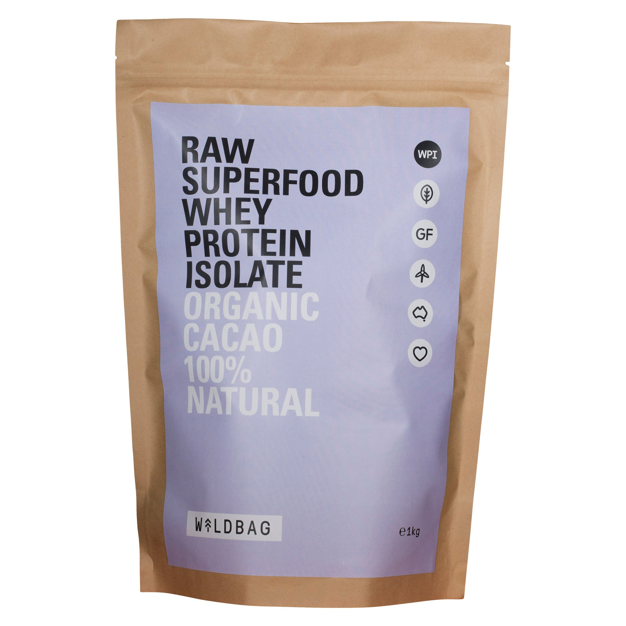 Wildbag Raw Superfood Whey Protein Isolate - Organic Cacao