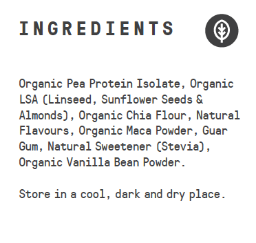 Raw Superfood Vegan Protein - Organic Vanilla