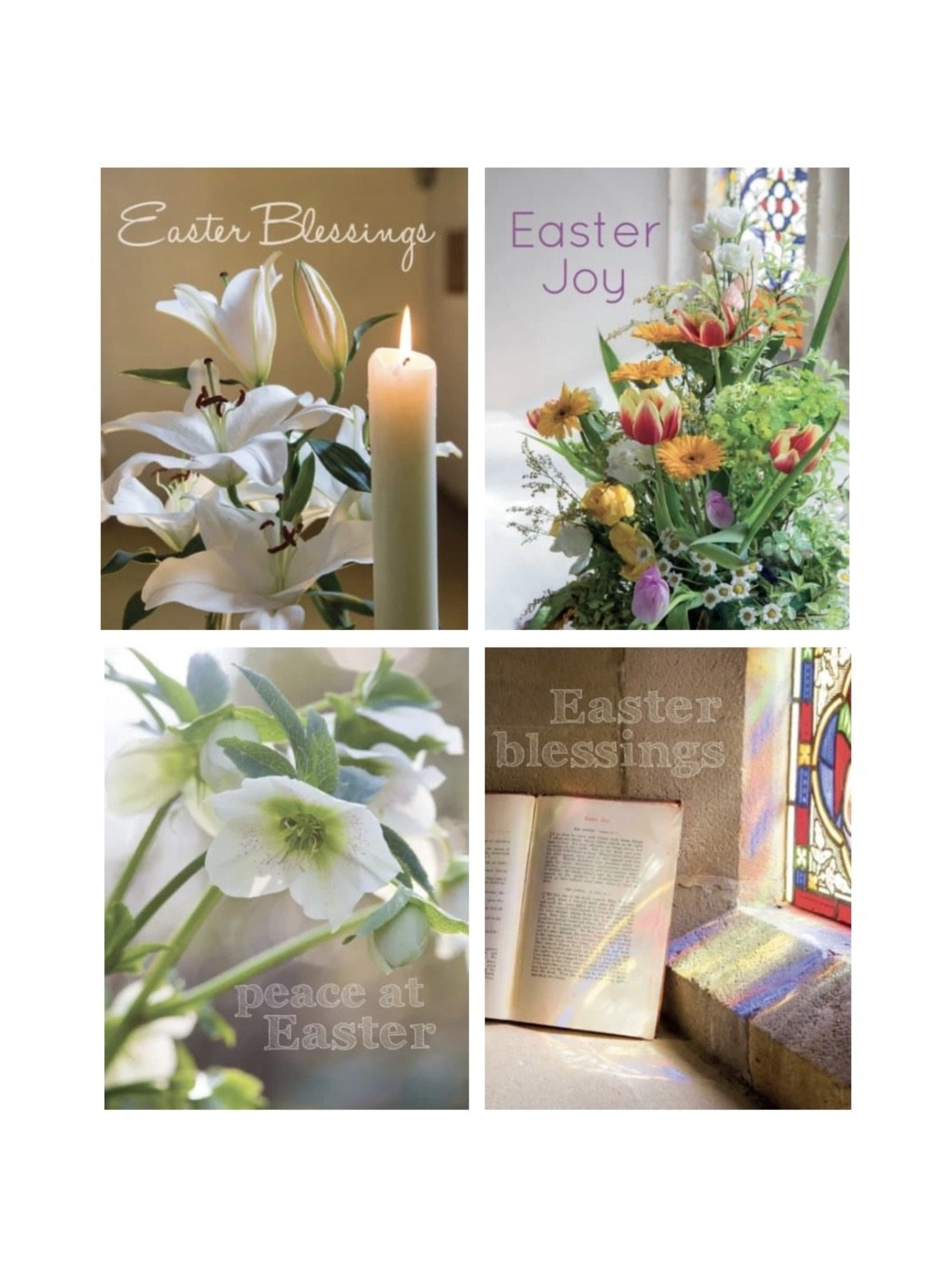 Easter Cards - Packs of 4