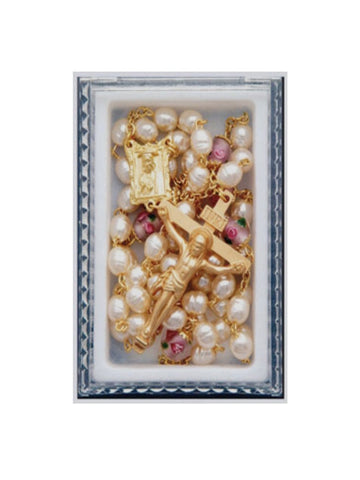 Pearlised Glass Rosary