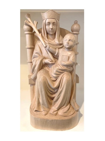 "16"" Walsingham Hand Carved Statue"