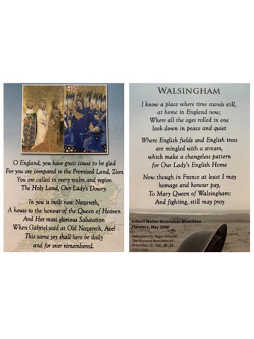 Walsingham Prayer Card